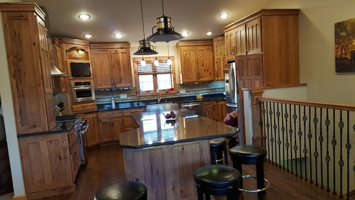 Hickory Cabinets And Golden Oak