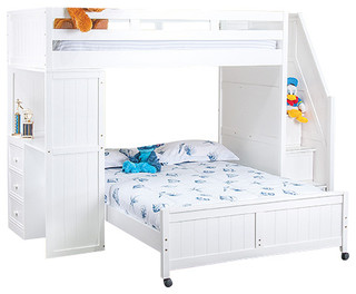 Post Twin Size Stairway Study Loft Bed