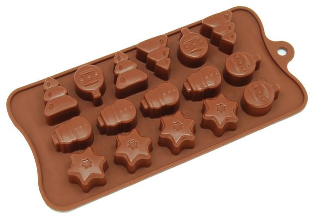 freshware 16 cavity silicone christmas shapes mold