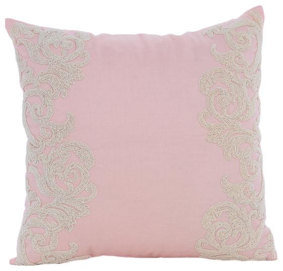 The HomeCentric - Pink Inspire, Pink Cotton Linen Decorative Pillow Case & Reviews Houzz