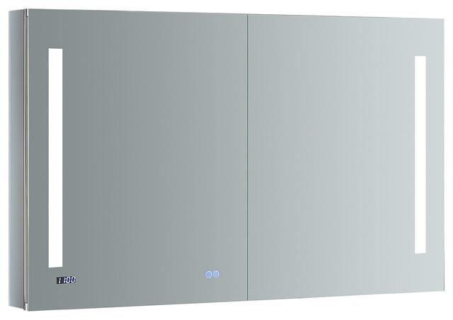 """Fresca Tiempo Bathroom Medicine Cabinet With Led Lighting, 48""""x30""""."""