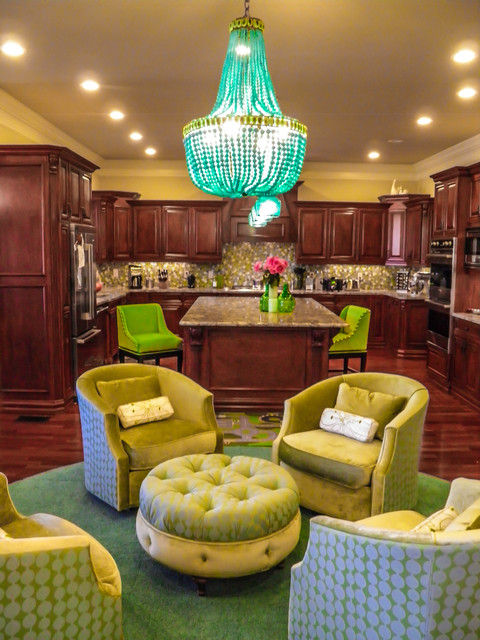 Brilliant Color in a Transitional Home transitional-kitchen