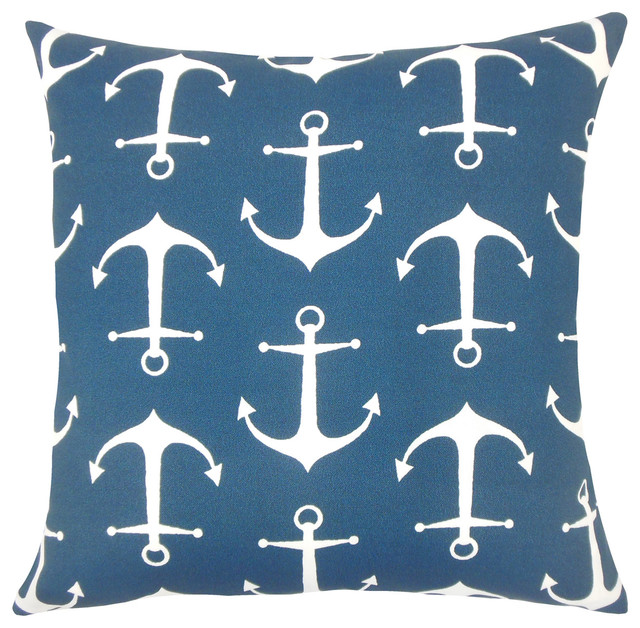 The Pillow Collection Finnegan Coastal Bedding Sham Cobalt King//20 x 36