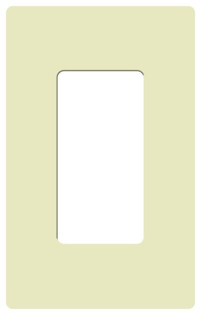 shop houzz lutron claro single gang rocker wallplate. Black Bedroom Furniture Sets. Home Design Ideas