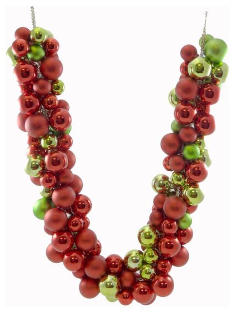 Christmas Ball Garlands.Christmas Red Green Ball Garland Metal Plastic Decoration Wreath Tree C87250674