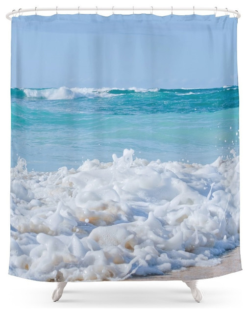 society6 beach love shower curtain beach style shower. Black Bedroom Furniture Sets. Home Design Ideas