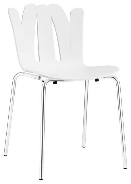 Modway Flare Dining Side Chair Eei 1496 Blk Contemporary