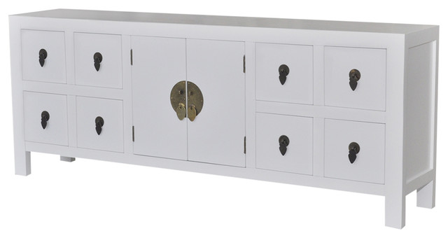 VidaXL Wooden 8-Drawer and 2-Door Sideboard