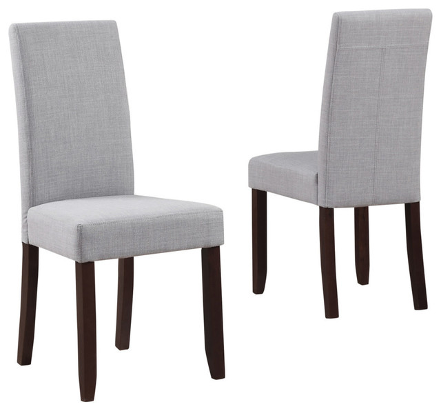 Acadian Parson Dining Chairs, Set Of 2, Dove Gray.