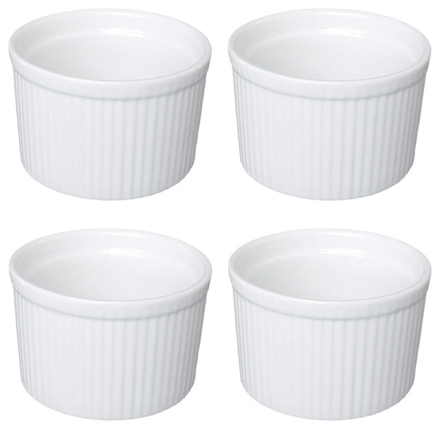 Set of 4 Deep Soufflés by BIA, Small