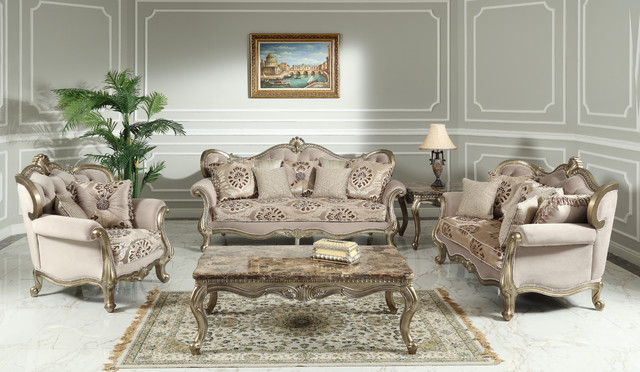 Tulip Traditional Living Room Collection 3 Piece Set Victorian Living Room Furniture Sets By Best Master Furniture