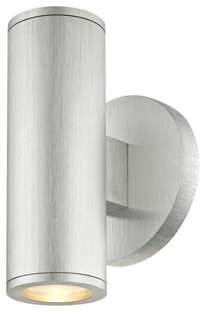 Led Outdoor Wall Light Cylinder Up Down, Modern Outdoor Wall Lights Silver