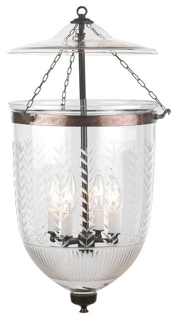 vertical leaf prismatic etching hundi glass bell jar lantern 12d antique bronz traditional bell jar lighting fixtures