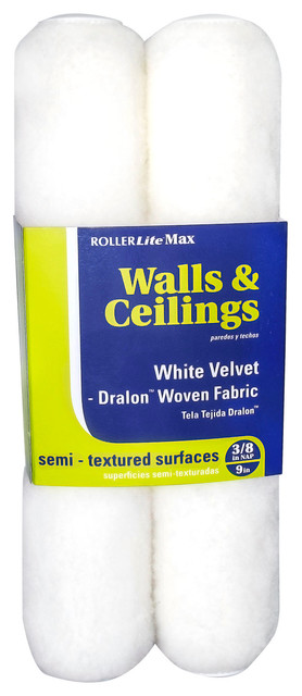 9 X 3/8 Dralon Woven Rollerlite Max Roller Covers, Pack Of 2.