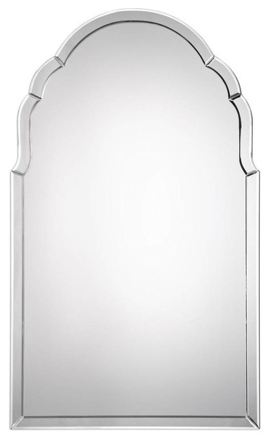 Arched Wall Mirror, Silver.