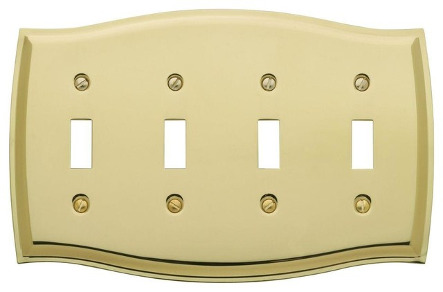 Colonial 4 toggle wall plate traditional switch plates for Outlet colonial