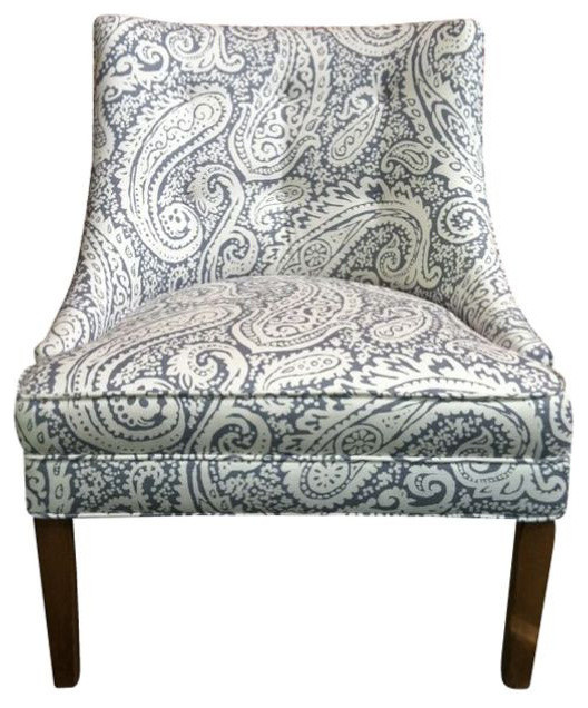 Beau Tufted Upholstered Chair In Paisley   $899 Est. Retail   $699 On Chair