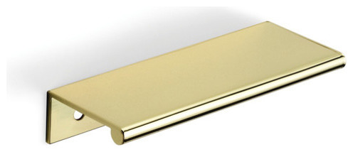 dp3 series 4 tab drawer pull in polished br modern cabi and