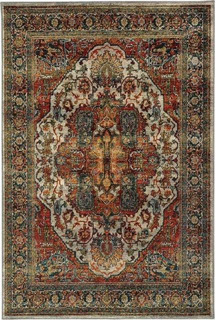 "Oriental Weavers Sedona 6382B Red 7'10"" x 10'10"" Rug"