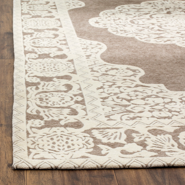 Studio Seven Marbella Rug Light Gray Ivory Traditional