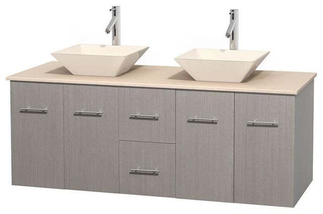 Eco Friendly Wooden Double Bathroom Vanity In Espresso Contemporary Bathroom Vanities And