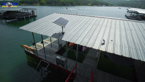 Table Rock Lake Dock Solar
