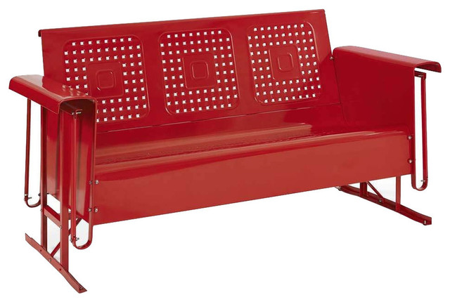 Bates Sofa Glider Red