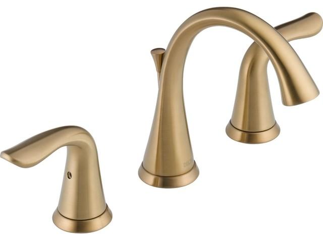 Delta Faucet 3538-CZMPU-DST Lahara 2 Hndl WDSPRD Faucet w/Pop-Up Drain Bronze