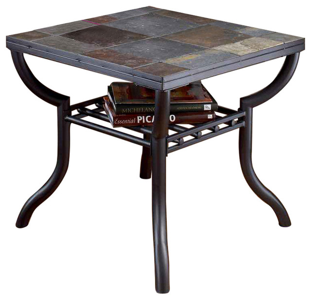 Ashley Square End Table Antigo Black Transitional Side Tables And End Tables By Lampsusa