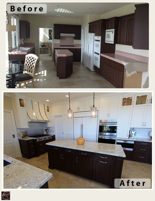 kitchen remodel with custom cabinets in yorba linda orange county