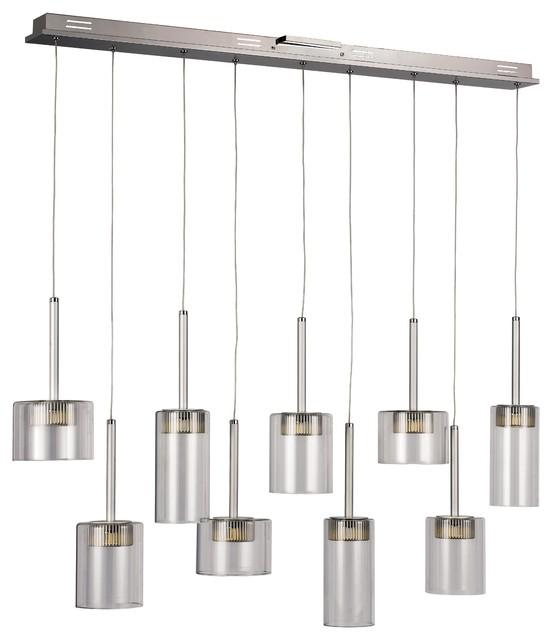 Contemporary Kitchen Island Lighting trans globe lighting pnd-997 island light in polished chrome