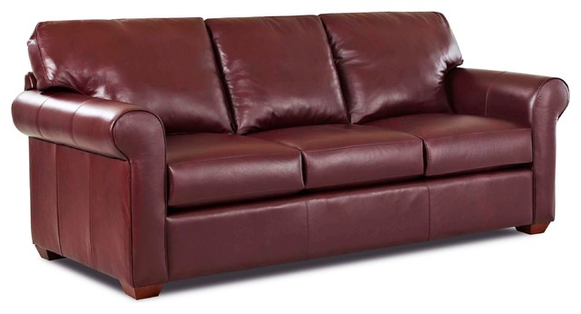 Cancun Leather Queen Sleeper Sofa, Outsider Burgandy Traditional Sleeper  Sofas