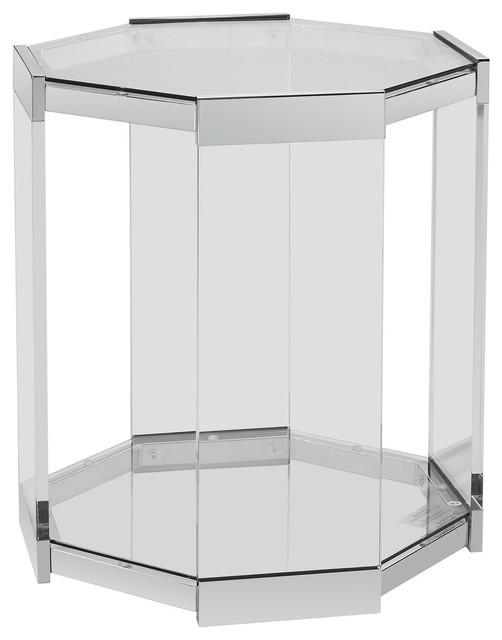 Powell Brahm Side Table Chrome Metal