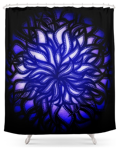 Color Flower Ball Shower Curtain