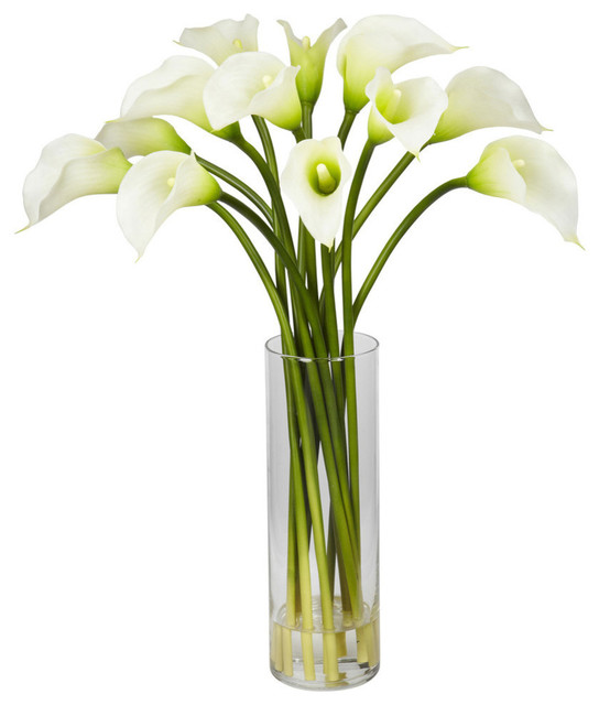 mini calla lily flower arrangement cream