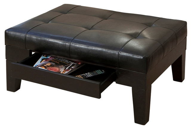 Gdf Studio Tucson Leather Storage Ottoman Coffee Table
