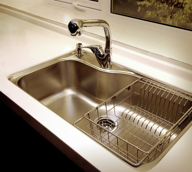 Kansas city kitchen cabinet customer contemporary kitchen sinks kansas city by - Kitchen sink drying rack ...