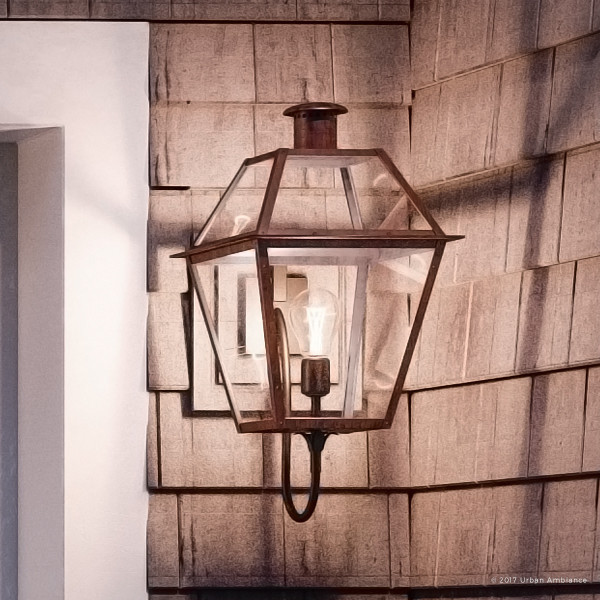 Luxury Historic Copper Outdoor Wall Light Large Uql1211 Paris Collection Traditional Outdoor Wall Lights And Sconces By Urban Ambiance