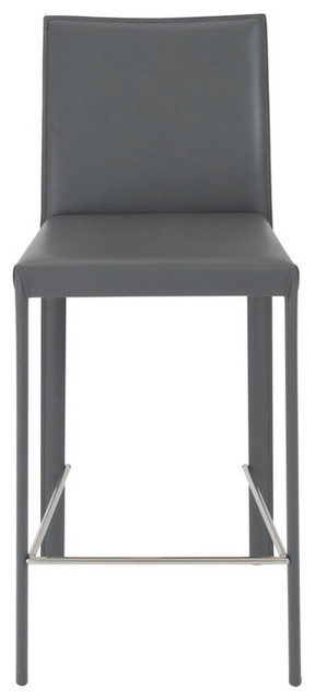 Macy Upholstered Counter Stools, Gray, Set Of 2.