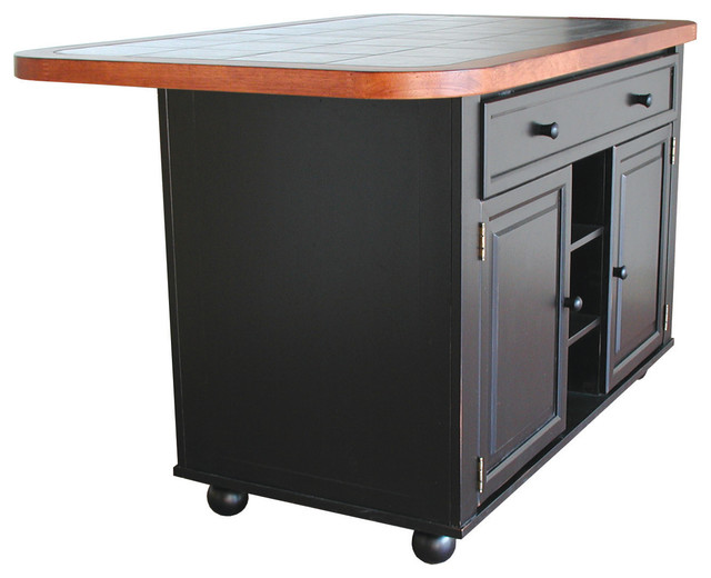 shop houzz | sunset trading antique black kitchen island with