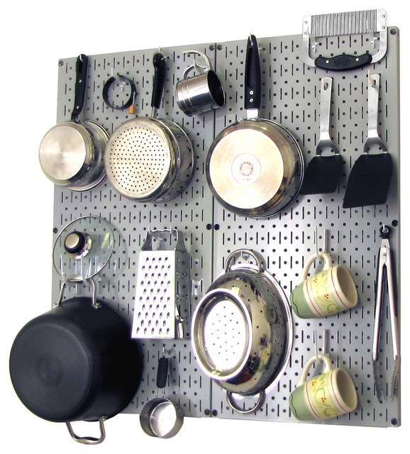 Kitchen Organization Ideas For Pots And Pans: Kitchen Pegboard Organizer Pots And Pans