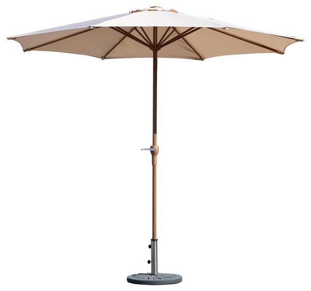 Grand Patio Market Round Umbrella,patio Umbrella With Push Button Tilt And Crank.