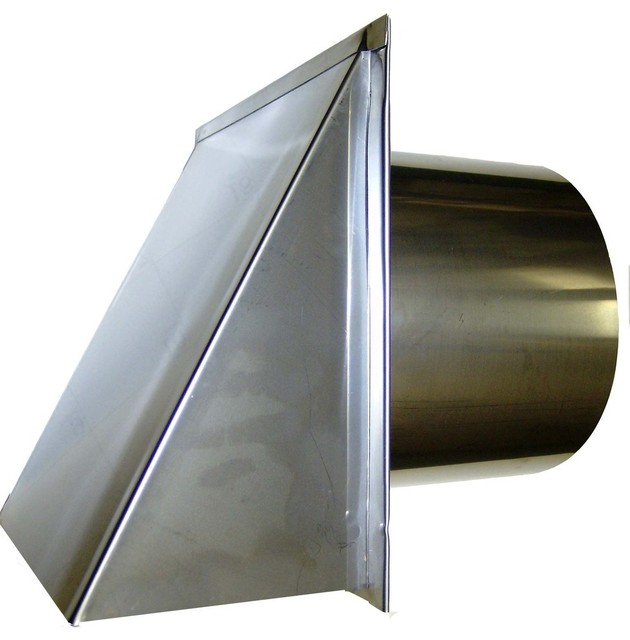 Attractive Stainless Steel Exterior Side Wall Cap, 3 Inch, With Damper Only  Traditional Registers