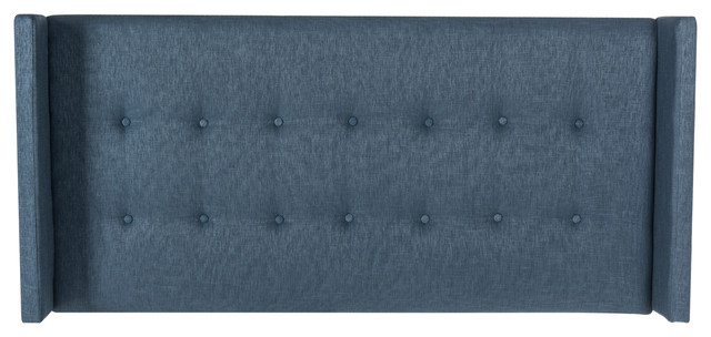 Safavieh Damon Denim Blue Winged Headboard, King.