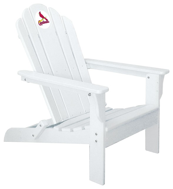 St. Louis Cardinals Adirondack Chair, White   Contemporary   Adirondack  Chairs   By VirVentures