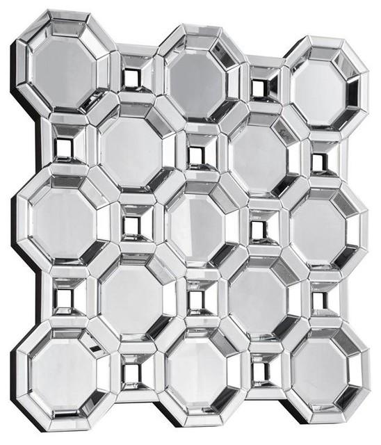 "Elegant Wall Mirrors elegant lighting modern mirror - 43.3"" x 43.3"" x 1.8""- clear"