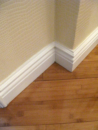 35 West 81st Bamboo flooring / custom wallcovering