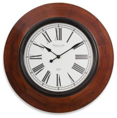 Sterling Amp Noble 16 Inch Wood Wall Clock Contemporary