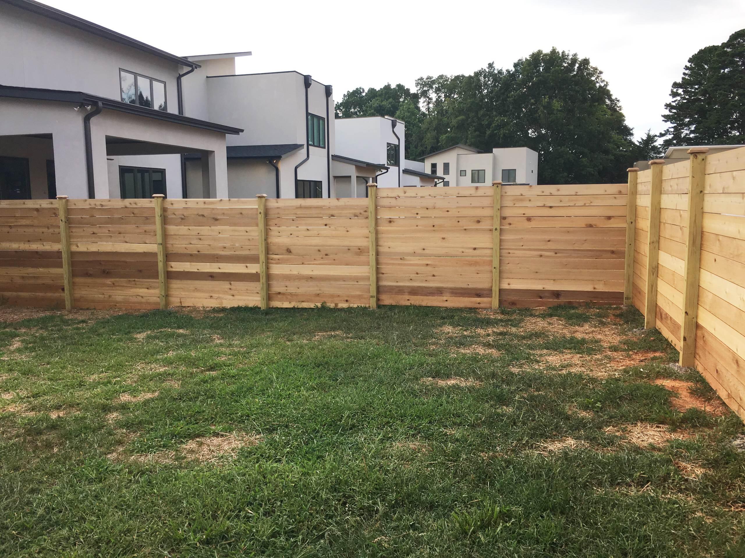 Horizontal Cedar Full-Privacy Fence