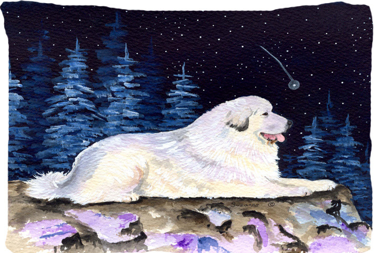 Starry Night Great Pyrenees Moisture Wicking Fabric Standard Pillowcase Traditional Pillowcases And Shams By The Store